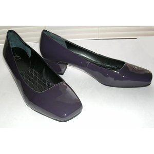 Easy Spirit Patent Purple Mid-Heel Pumps, 8.5W